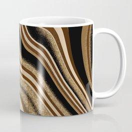 Abstract gold choco winter marble design Coffee Mug