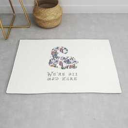 Alice floral designs - Cheshire cat all mad here Rug