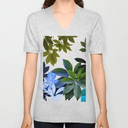 Leaves, Botaical Composition Unisex V-Neck