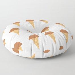 Chocolate Ice-creams Floor Pillow