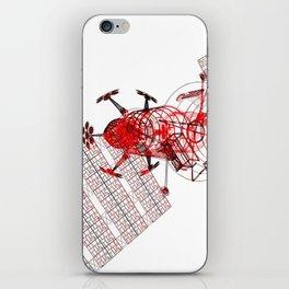 Explorer Schematic Red on White iPhone Skin