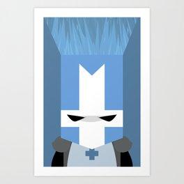 Blue Knight (Castle Crashers) Art Print