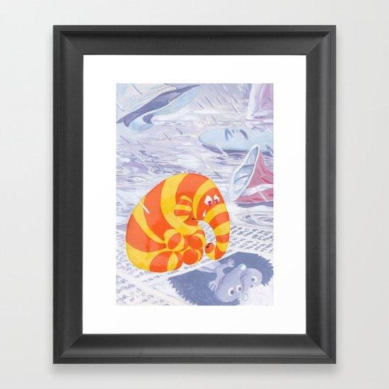 Lonely Elephant Framed Art Print