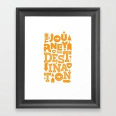 Orange Type Journey Quote  Framed Art Print