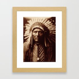 Three Horses by Edward S. Curtis (1905) Framed Art Print