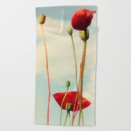 Lost Poppies Beach Towel