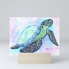 Save The Sea Turtles (50% of commission is donated to the World Wildlife Fund) Mini Art Print