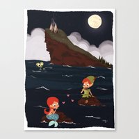 peter pan Canvas Prints featuring Peter Pan by Orelly