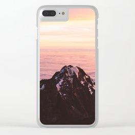 Mountain sunrise - A dreamy landscape Clear iPhone Case