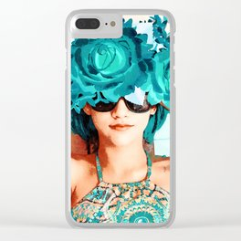 Lovers and flowers Clear iPhone Case