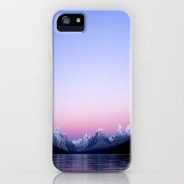 pastel mountain lake sunset iPhone Case
