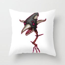 Black Deathswoop Throw Pillow