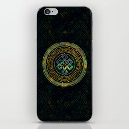 Marble and Abalone Endless Knot  in Mandala Decorative Shape iPhone Skin