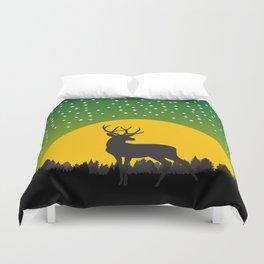 Deer Stars Moon Duvet Cover
