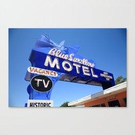 Route 66 - Blue Swallow Motel 2012 Canvas Print