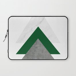 Marble Green Concrete Arrows Collage Laptop Sleeve