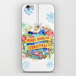 Merry Bookish Christmas iPhone Skin