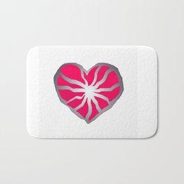 Broken Heart Fuchsia Bath Mat