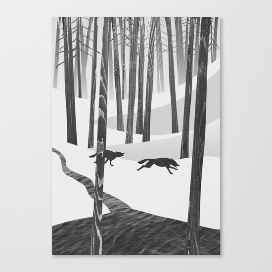Martwood Wolves Canvas Print