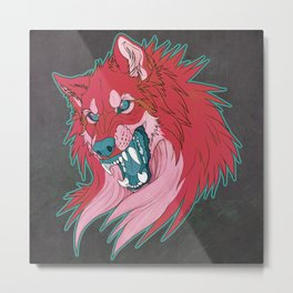 Ravewolf -Teal and Berry Metal Print