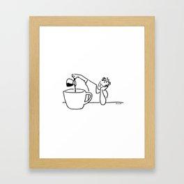 Big Coffee Framed Art Print