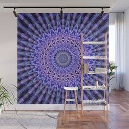Lilac glamour mandala Wall Mural