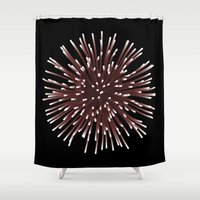 hedgehog Shower Curtains featuring hedgehog by  Cristina Lobo