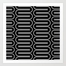 Geometric Pattern #164 (curve lines) Art Print