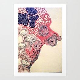 Jelly Absract Art Print