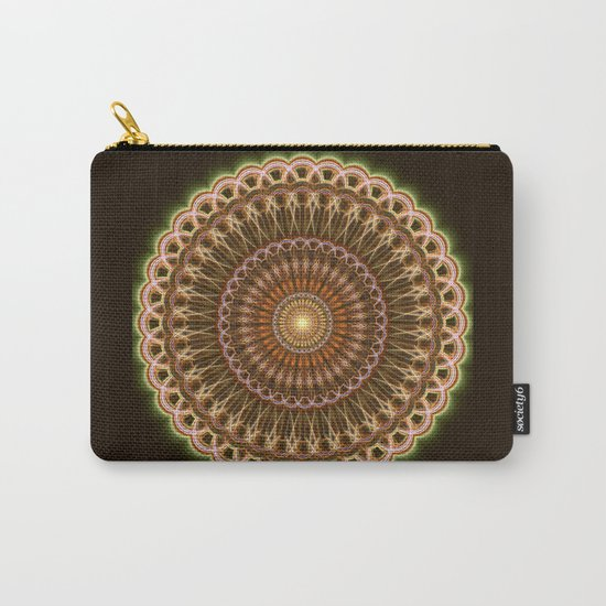 Patterns mandala in earth tones Carry-All Pouch