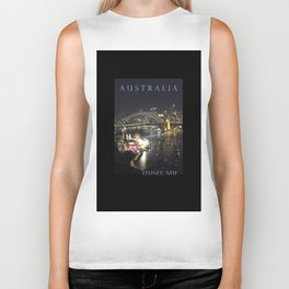 Sydney Night Lights Biker Tank