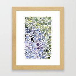 Watercolor Bubbles Framed Art Print