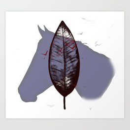 Feathers And Ponies Art Print