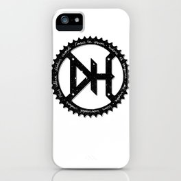 Downhill chainring iPhone Case