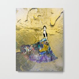Woman in gold Metal Print