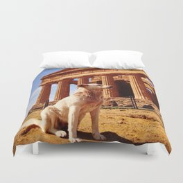Majestic Dog for a Majestic View Duvet Cover