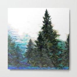 GREEN MOUNTAIN PINES LANDSCAPE Metal Print