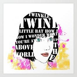 Twinkle twinkle little bat Art Print