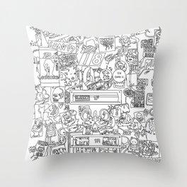 plastered Throw Pillow