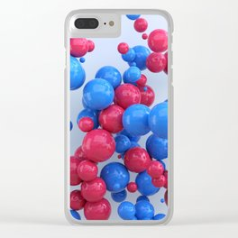 Red & Blue Clear iPhone Case