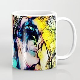 African Elephant Digital Watercolor Coffee Mug