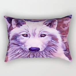 The Arctic Wolf Rectangular Pillow