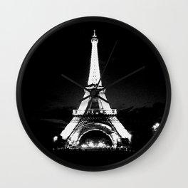 Paris Black & White Wall Clock