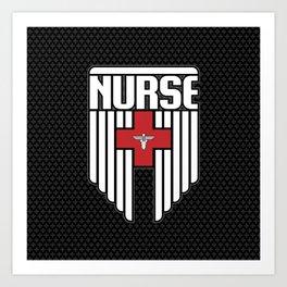 Nurse Shield Art Print