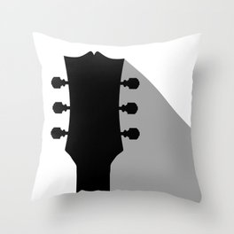 Guitar Headstock With Shadow Throw Pillow