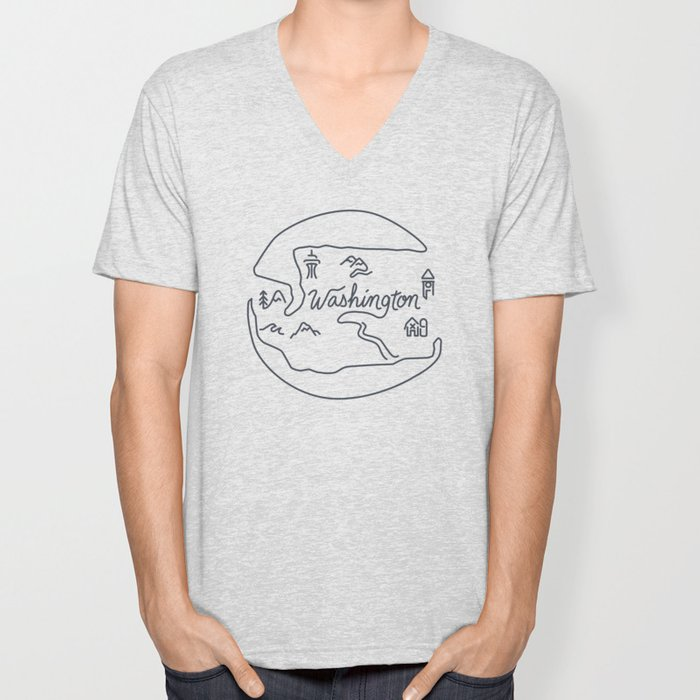 Washington State Unisex V-Neck