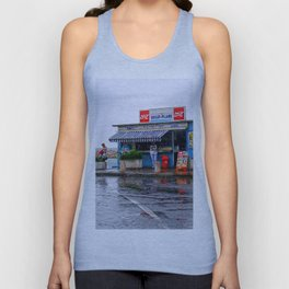Rainy Beach Bar Cote d´Azur Unisex Tank Top