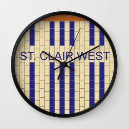 ST. CLAIR WEST | Subway Station Wall Clock