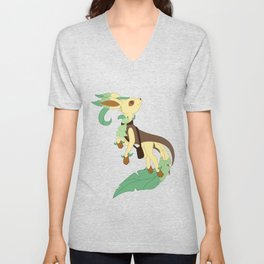 Leaf Steampunk Fox Unisex V-Neck