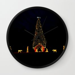 Christmas in Rome Wall Clock